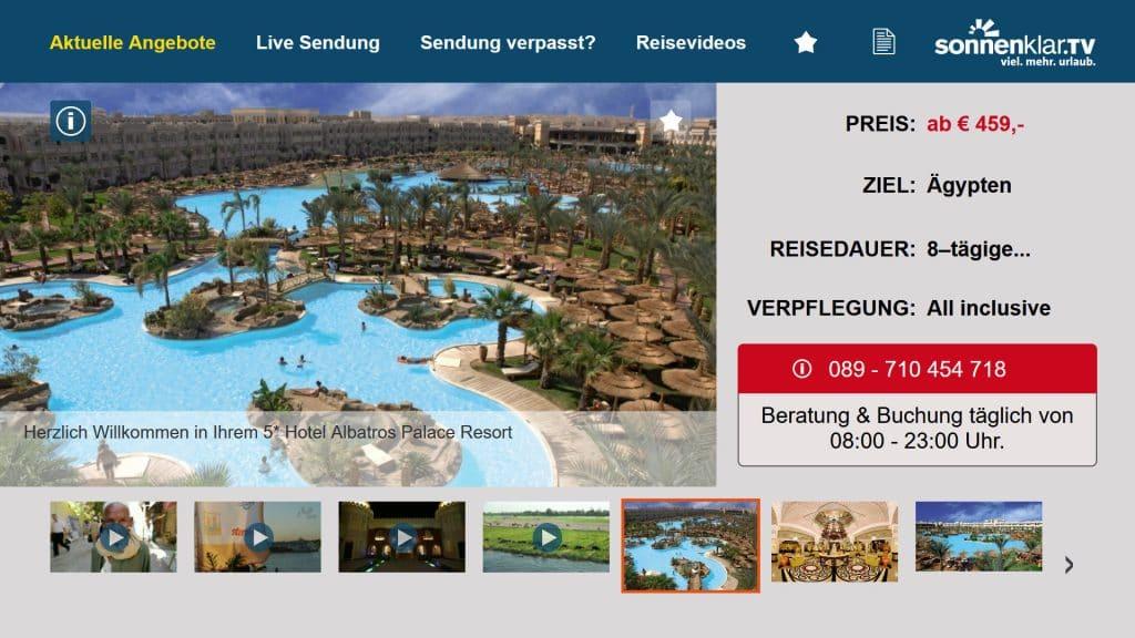 Sonnenklar tv Angebote Details